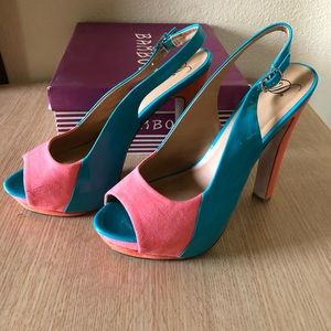 D's  Multi-colored heel with platform